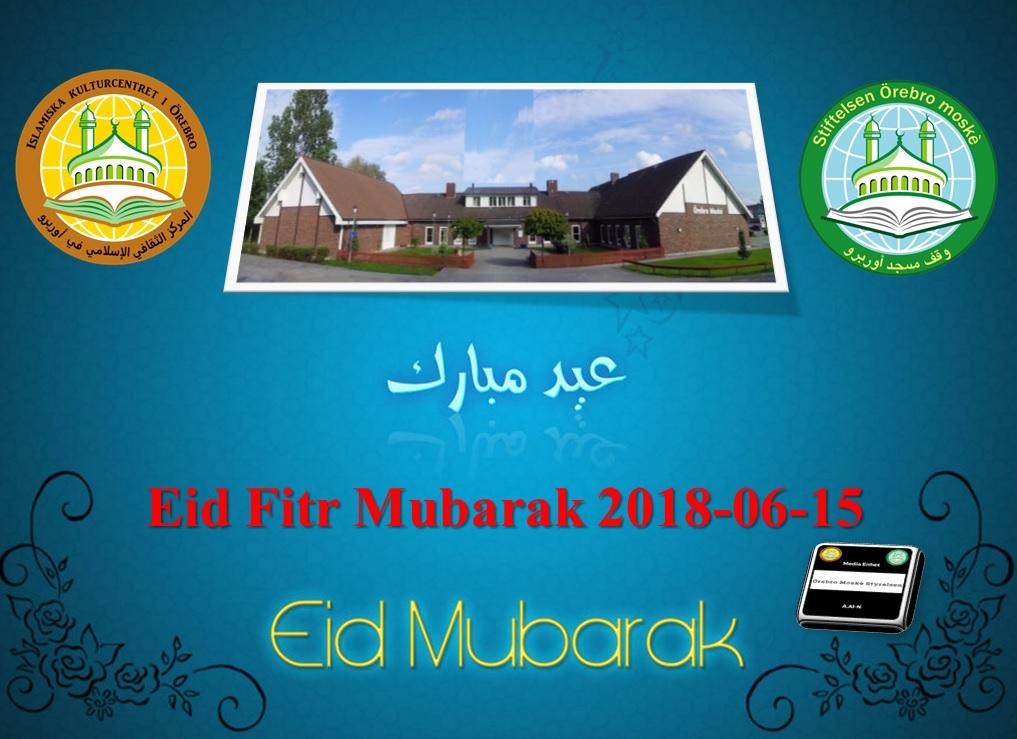 Nu är det officiellt! EID Fitr MUBARAK kära syskon! Eid Al-Fitr infaller imorgon, fredag den 15 juni 2018 Må Allah acceptera er fasta och bön, allmosa och botgöring. En välsignad Eid Al-fitr önskar er Styrelsen vid Örebro moské. ====================================== När det gäller Eid-bönen så kommer vi att göra på 2 olika sätt beroende på vädret! - Alternativ.1 Om det är soligt väder så börjar Eid-bönen kl. 9.00. Då ber vi utomhus i moskéns parkering medan systrarna kommer göra Eid-bönen inomhus i moskéns (i Alan) Då ber vi endast en gång. - Alternativ.2 Om det är regnigt väder så kommer vi att be inomhus i Ballonghallen i Vivalla område i 2 omgångar. Första Eid-bönen startar kl. 09.00 och andra kl. 10.00. Då kommer systrarna göra Eid-bönen inomhus i moskéns (i Alan) - ATT TÄNKA PÅ INFÖR EIDBÖNEN: - Tag med bönematta. - Kom tidigt för att få en bra sittplats och därmed slippa sitta utomhus. (Ifall bönen hålls inomhus) - Vi vill uppmana alla vivallabor att gå tillfots till moskén och därmed lämna bilarna hemma! Detta pga. brist på parkeringsplatser och att vi inte ska störa moskéns grannar! - Glöm ej att betala Zakat-Alfitr som går till fattiga. 75kr per person - OBS! Felparkerade bilar bötfälls av ansvarigt parkeringsbolag! Vi ber Allah den Allsmäktige att välsigna era dagar och acceptera era goda handlingar! Sprid gärna vidare!