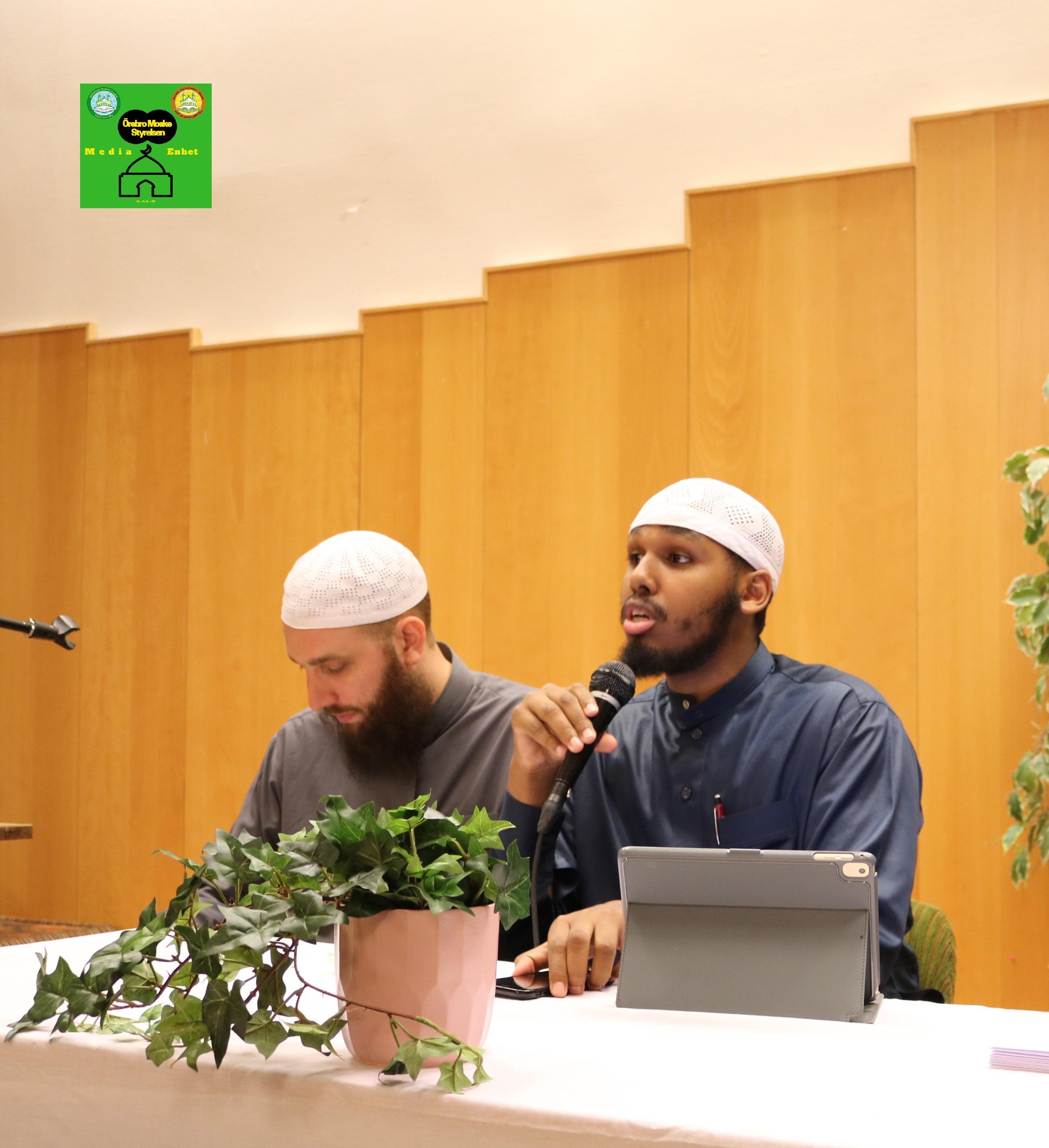 Avslutningsfest: Tredje Allmänna Studiecirkel 2018-07-22 Föreläsare Shikh Sadiq Al-Somali *************************** FILMED ON LOCATION *************************** Orebro Mosque - Örebro Moske - مسجد اوربرو Sweden – Sverge - السويد *************************** Gäster: Shikh Abdulla Al-Swidi Shikh Sadiq Al-Somali Shikh Sabri Al-Jabarti ******************************************* DIRECTED BY ********************************* A.Al-N ********************************* Effected Video (Facebook) ********************************* Örebro moské älskare - Orebro mosque lovers - محبي مسجد اوربرو (Facebook) ******************************************* Effected Video (YouTube) http://www.youtube.com/channel/UCSEb-ibpdTXYFwLsCf8E3Aw ******************************************* Baghdad forever (YouTube) http://www.youtube.com/user/baghdadiforeveri